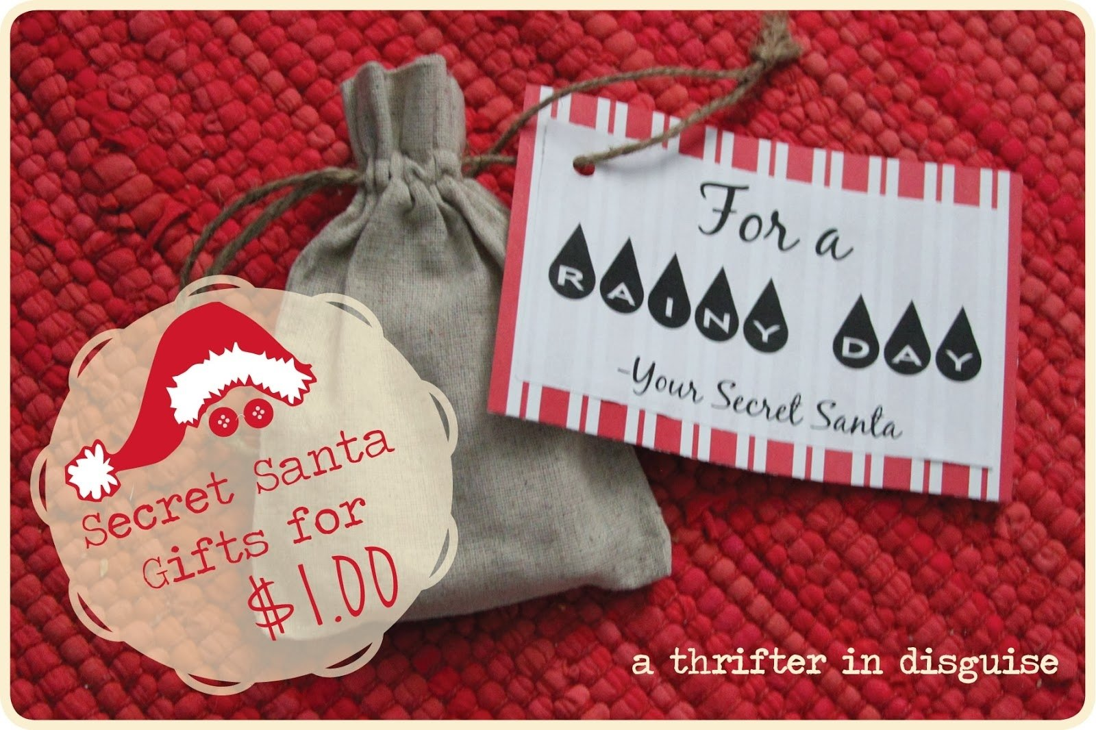 10 Most Recommended Secret Santa Ideas For Work a thrifter in disguise secret santa saturday gifts for a dollar 2020