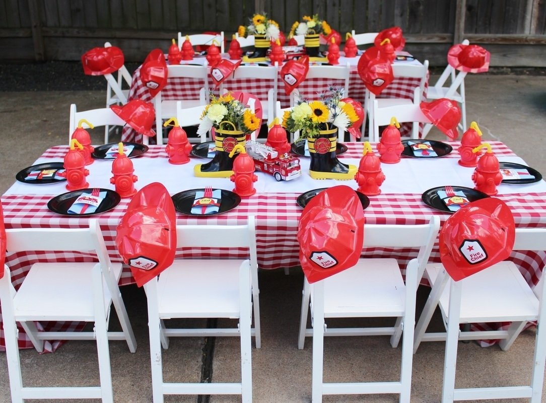 10 Awesome Fire Truck Birthday Party Ideas a two alarm fireman birthday party spaceships and laser beams 2020