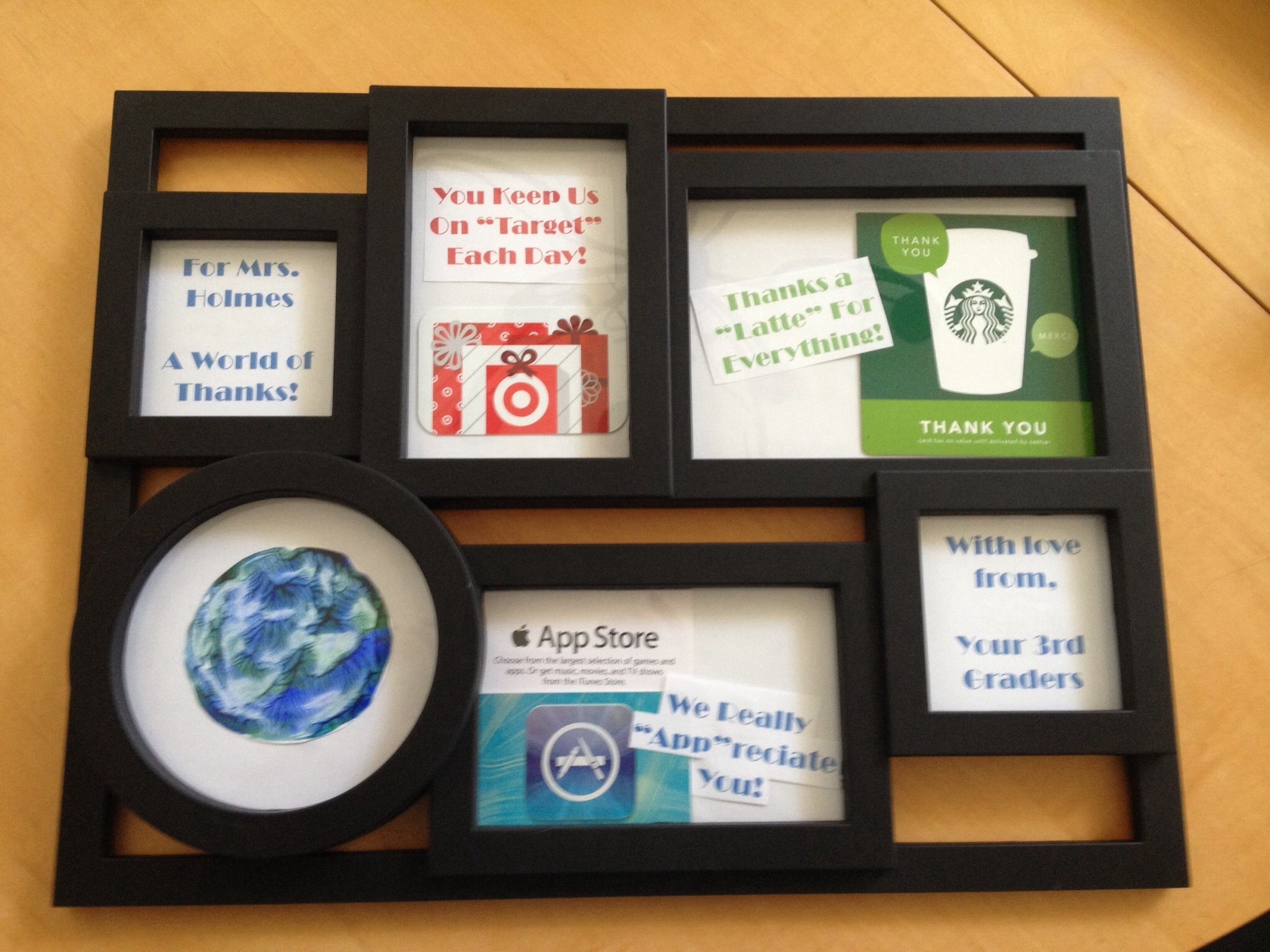 10 Stunning Ideas For Giving Gift Cards a unique way to give gift cards a frame collage gift ideas 2020