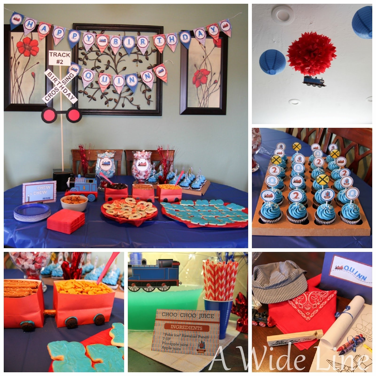 a wide line: diy train-themed birthday party