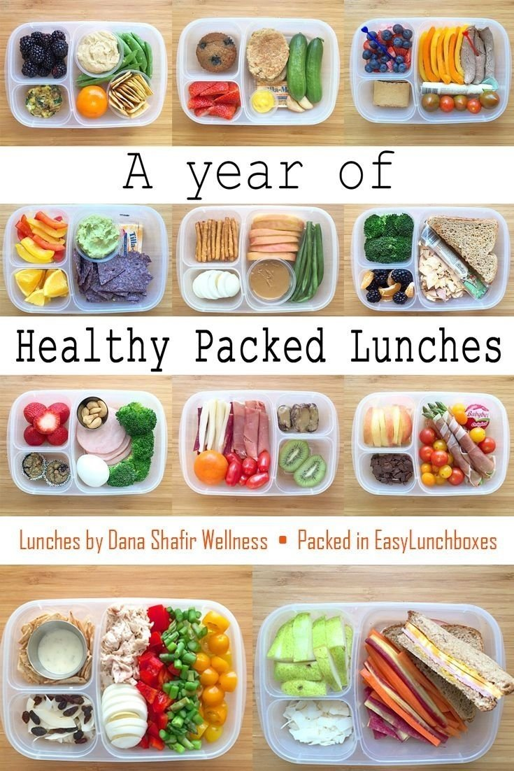 a year of healthy packed lunches in easylunchboxes | easy lunch box