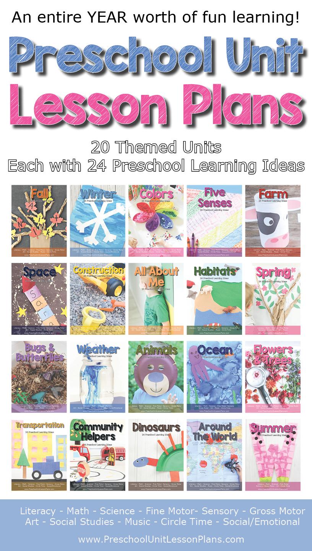 a year of preschool lesson plans- 20 preschool theme units! - where