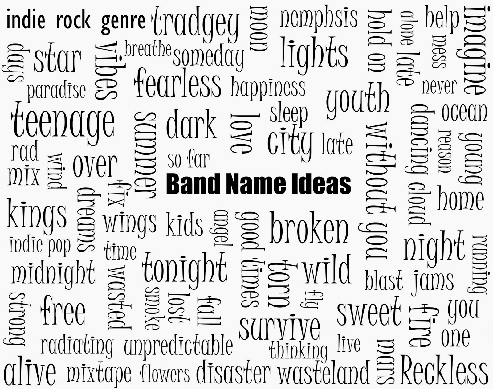10 Best Band Name Ideas For Rock a2 media december 2013