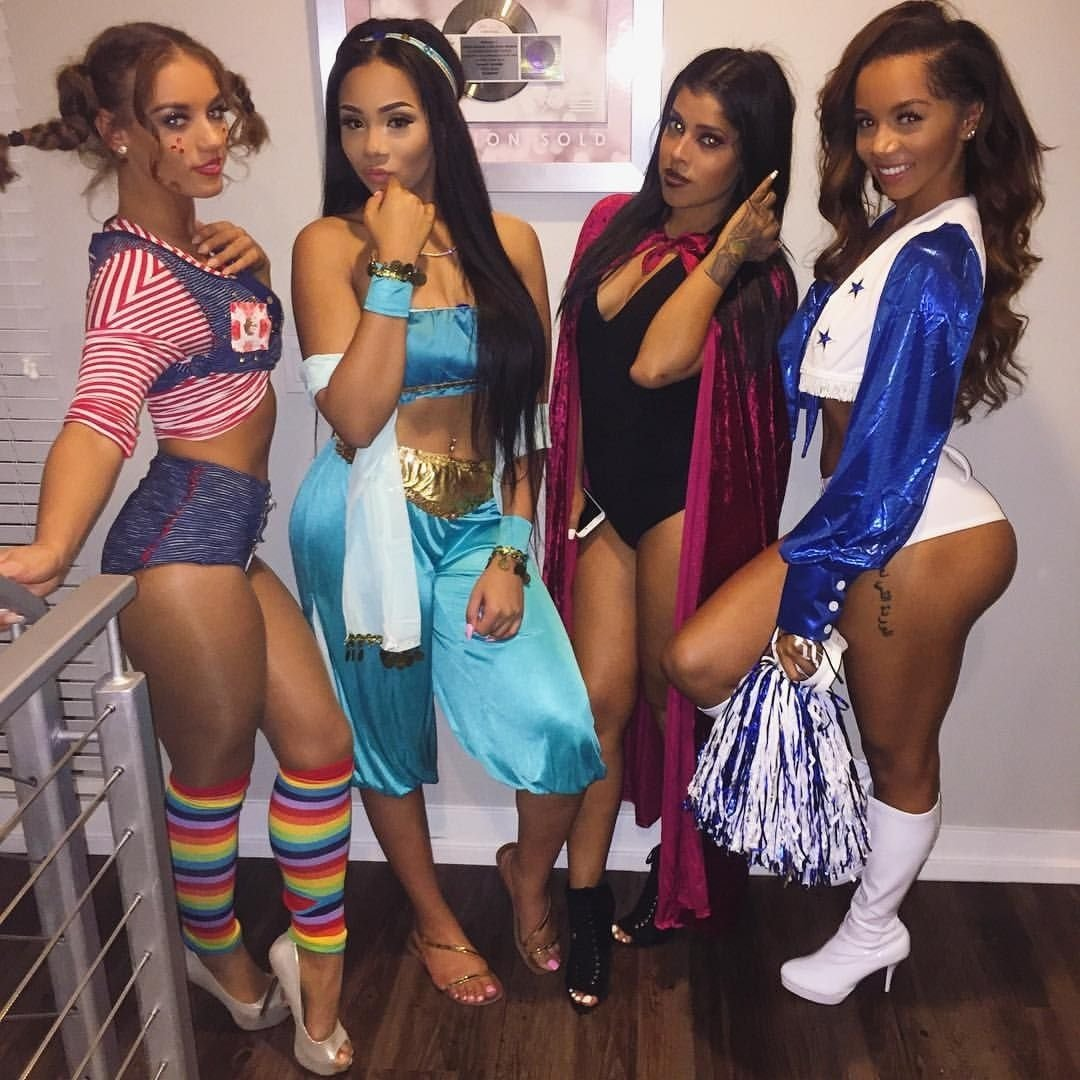 10 Most Recommended Black Girl Halloween Costume Ideas aaleeyah petty sur instagram whole squad of diamond tings pipi 2020