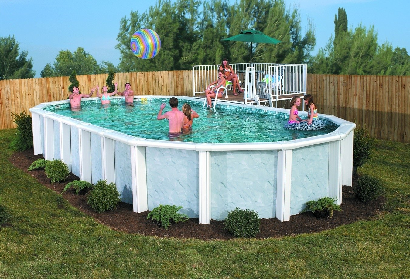 10 Famous Landscaping Ideas For Above Ground Pools about above ground pool ideas trends including landscaping for pools
