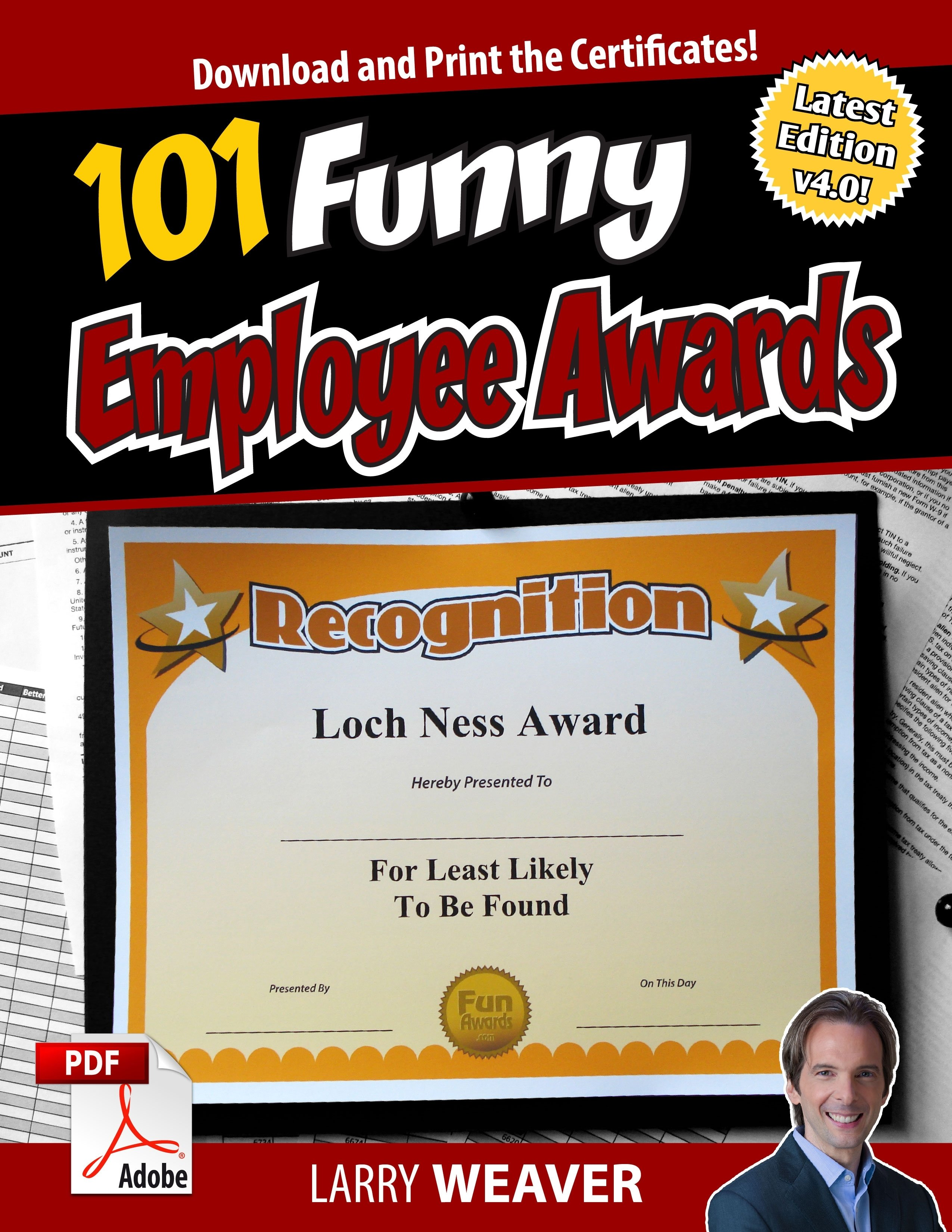 10 Beautiful Funny Award Ideas For Friends about larry weaver creator of fun awards 2021
