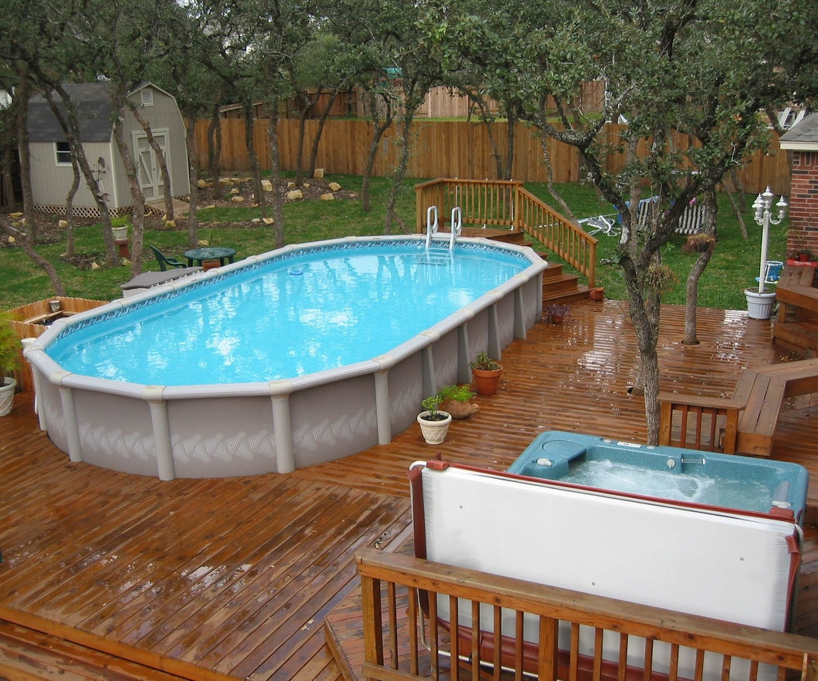 10 Stylish Pool Deck Ideas Above Ground above ground pool deck decorating ideas above ground pool deck