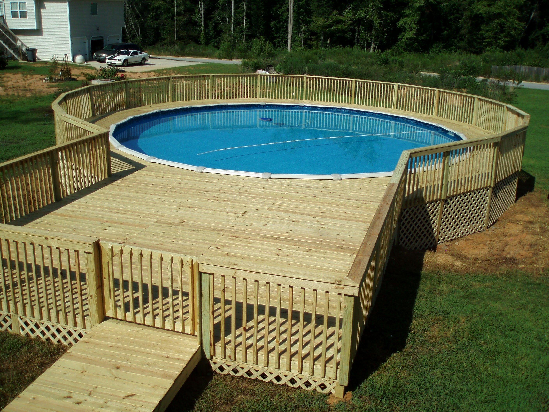 10 Trendy Deck Ideas For Above Ground Pools above ground pool deck designs unique hardscape design wood 2021