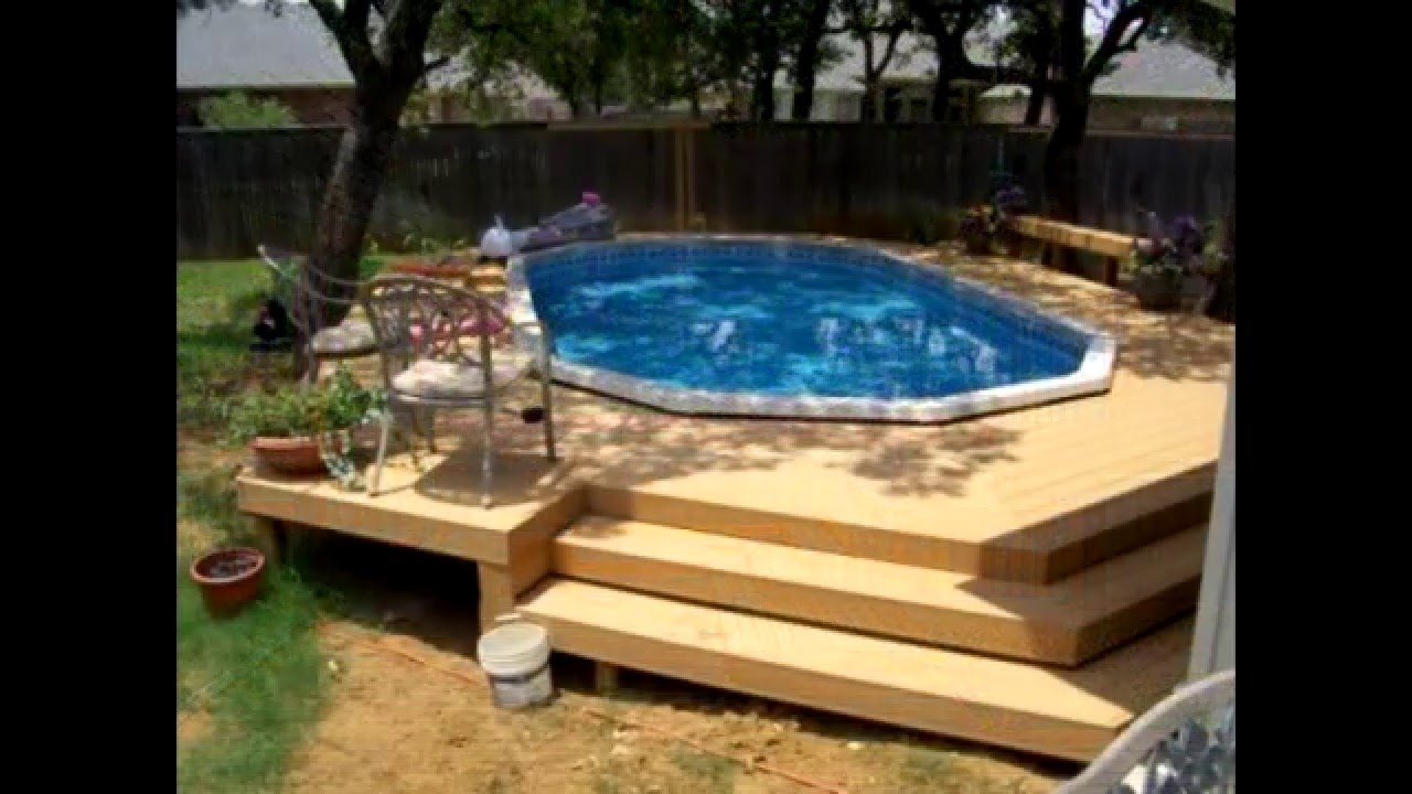 above ground pool deck ideas - youtube