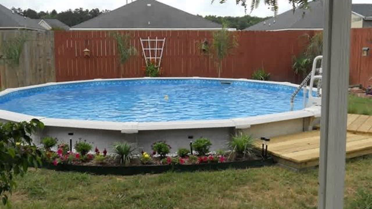 10 Famous Landscaping Ideas For Above Ground Pools above ground pool landscape design ideas youtube with regard to