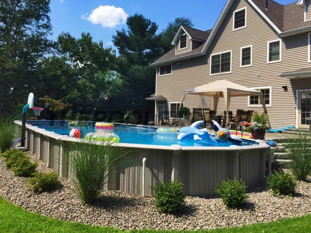 10 Famous Landscaping Ideas For Above Ground Pools above ground pool landscaping design stylid homes above ground 1