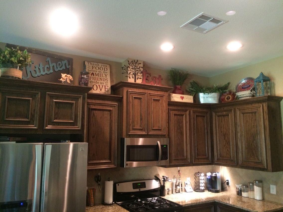 10 Elegant Kitchen Decorating Ideas Above Cabinets above kitchen cabinets decor awesome pinterest kitchen 2020