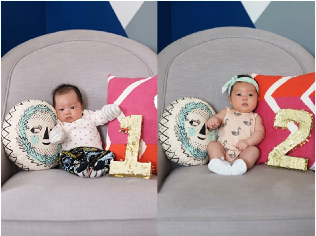 10 Unique 1 Month Baby Picture Ideas absolutely adorable ideas for month by month baby photos 1 2020