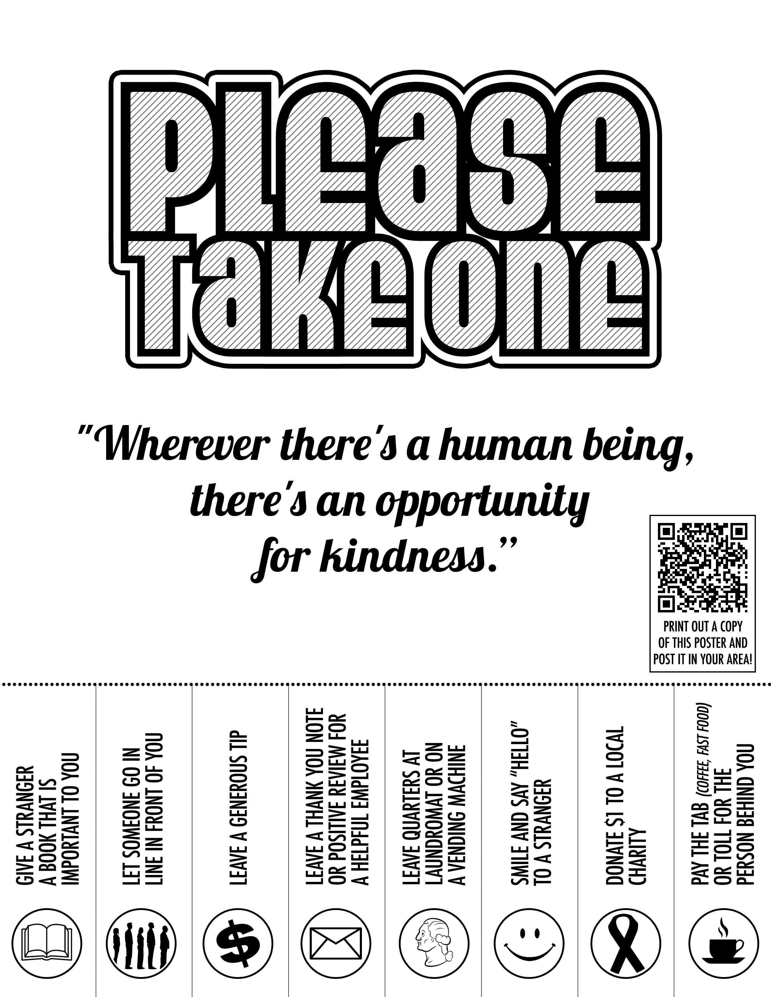 10 Nice Pay It Forward Project Ideas acts of kindness flyer bandw holidays pinterest random 2020