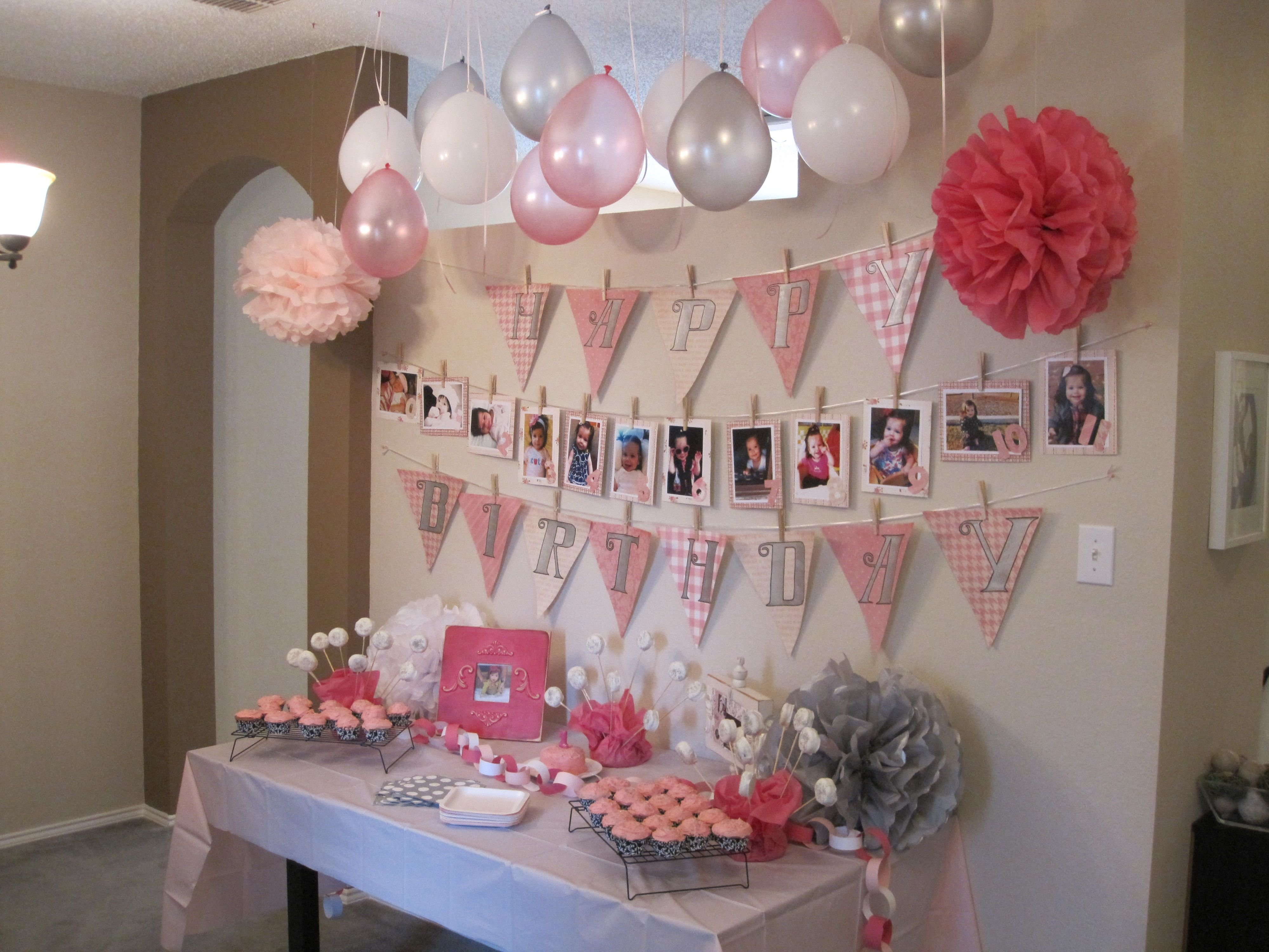 10 Lovely Baby Girl Birthday Party Ideas actual decorations my friend did for her lil girls bday party i 2020