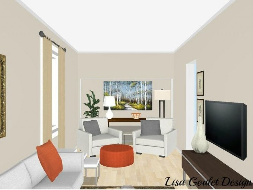 10 Amazing Narrow Living Room Design Ideas adi tatarko living room wall decor pinterest designs for small 2020