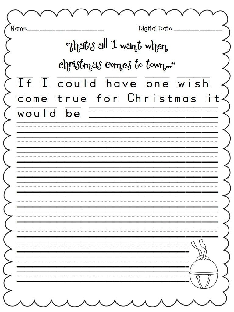 10 Spectacular Writing Ideas For First Grade adorable christmas writing worksheets for first grade on pictures on 2020