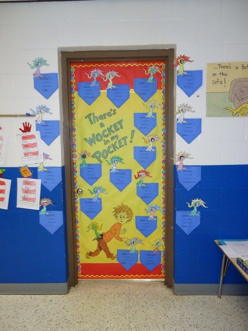 10 Attractive Dr. Seuss Decorating Ideas For Classroom adorable kindergarten door design on dr seuss classroom door dr 2020