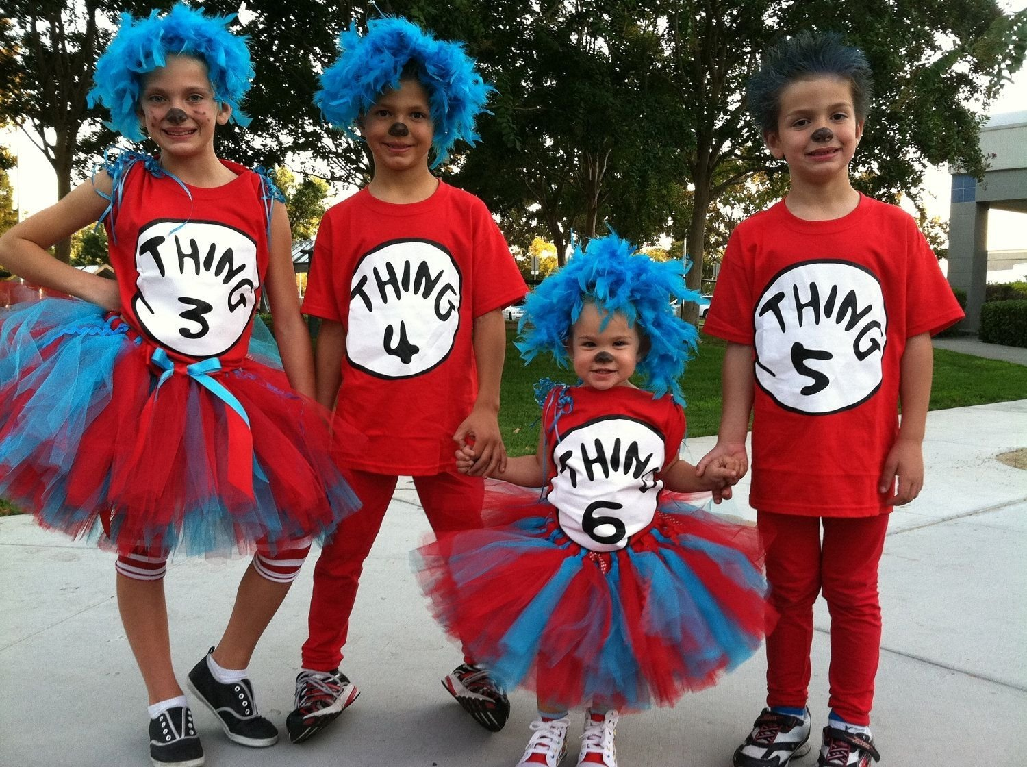 10 Best Group Costume Ideas For 4 People adorable one year old thing 1 and three year old thing 2 costumes 2020