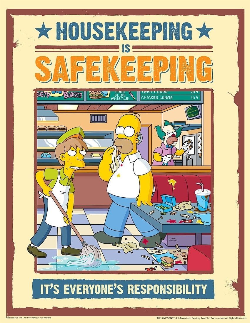 10 Pretty Safety Ideas For The Workplace adorable simpsons safety posters and creative ideas of workplace 20 2020