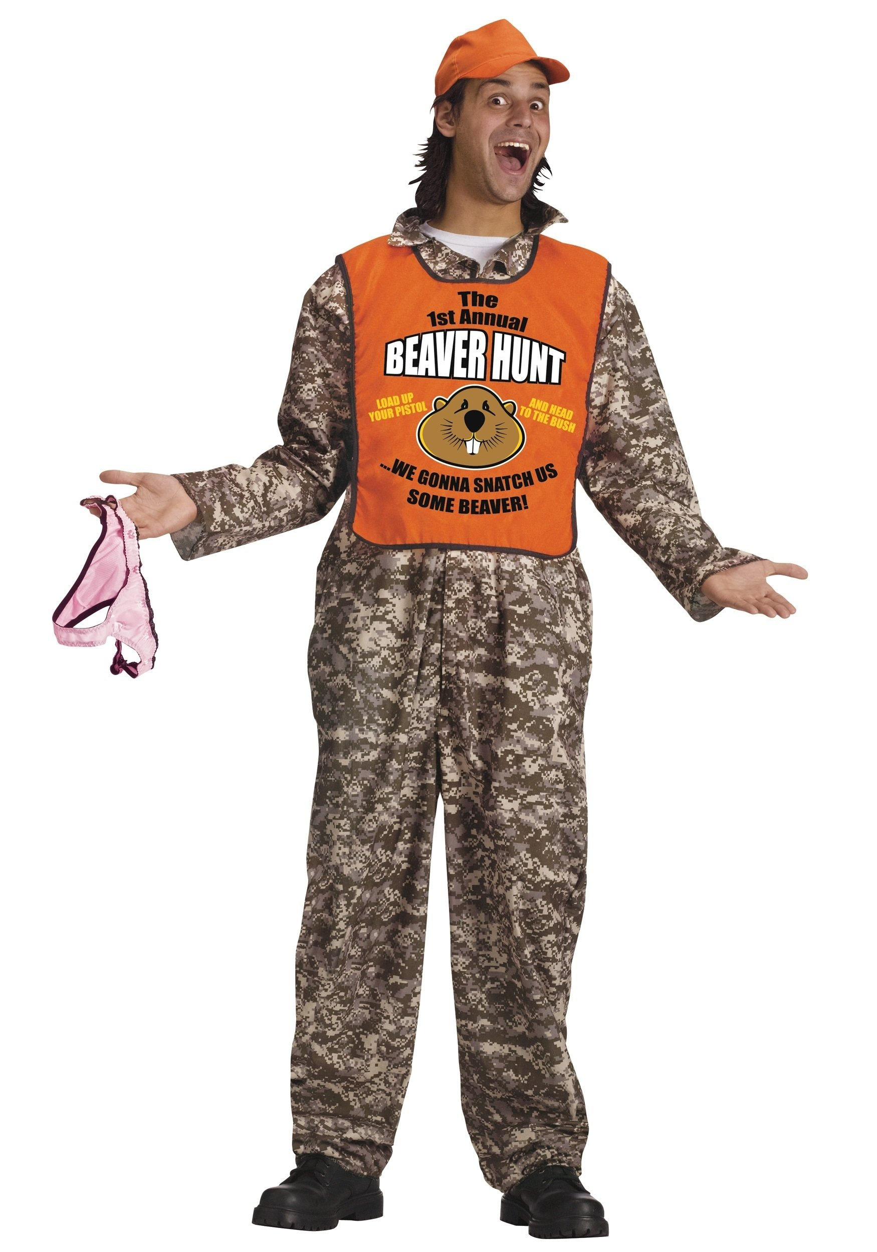 adult beaver hunter costume - halloween costumes