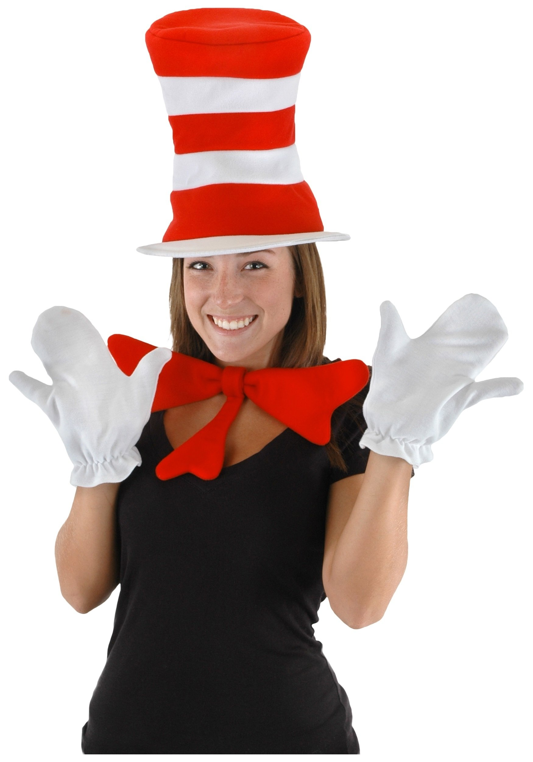 10 Lovable Cat In The Hat Costume Ideas adult cat in the hat accessory kit