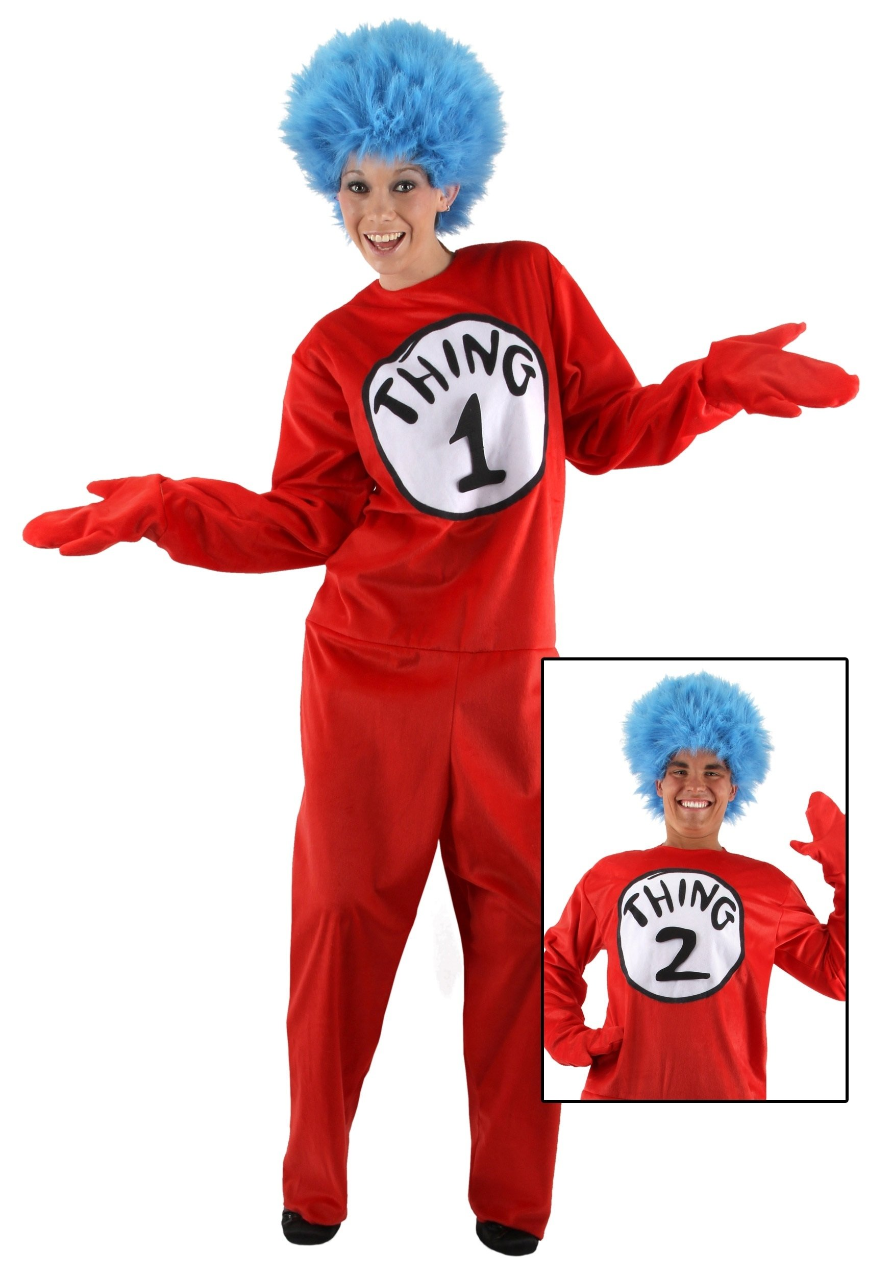 10 Unique Thing 1 And Thing 2 Costume Ideas adult thing 1 and 2 costume 2021