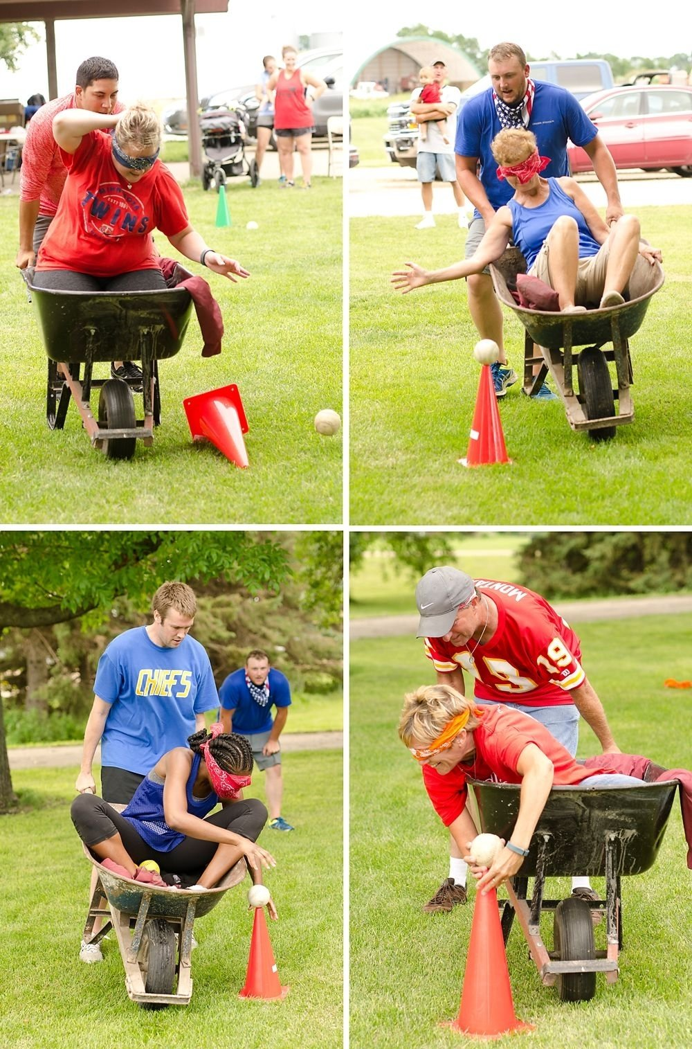 10 Awesome Relay Race Ideas For Adults adults and kids compete in a variety of backyard games including 1 2020