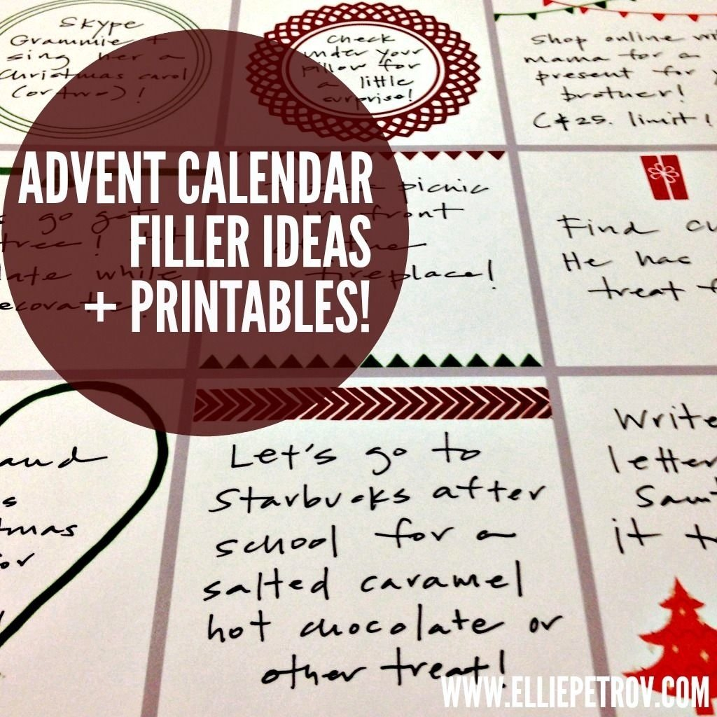 10 Fantastic Ideas For Advent Calendar Fillers advent calendar filler ideas and printables advent calendar 1