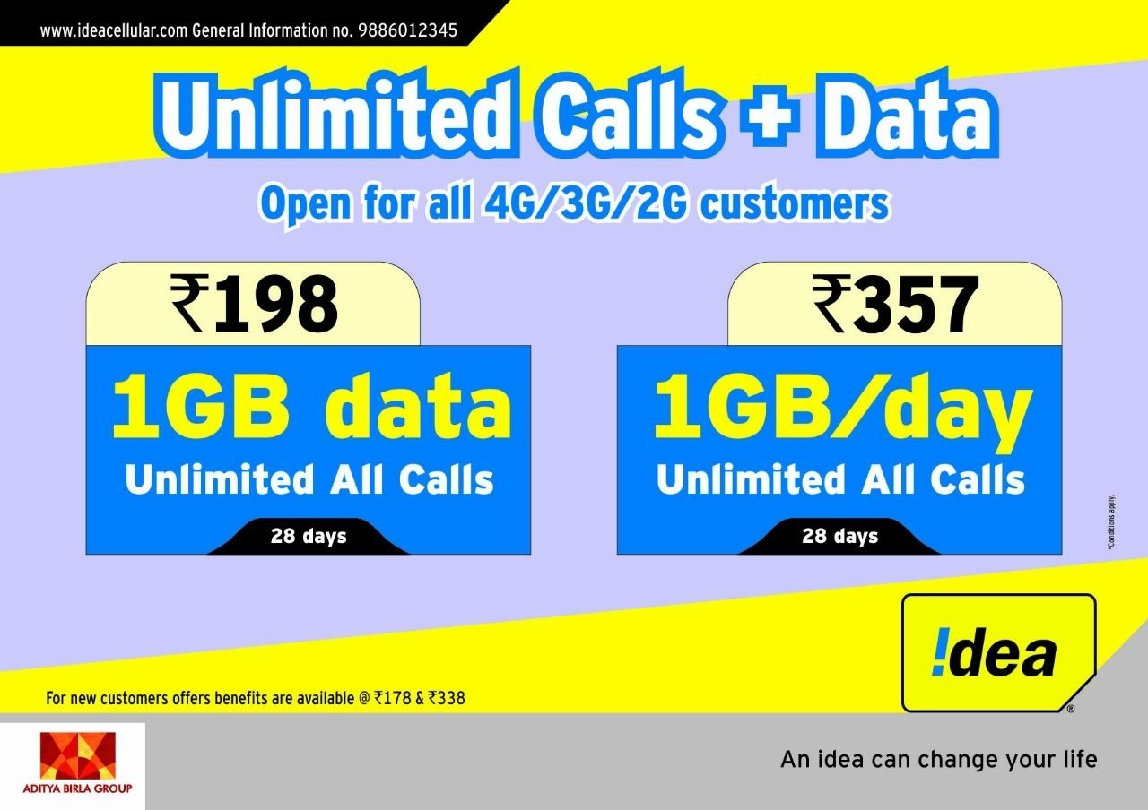 10 Stunning Idea Online Recharge Andhra Pradesh after bharti airtel idea cellular announces rs 198 plan with 1gb 1 2020