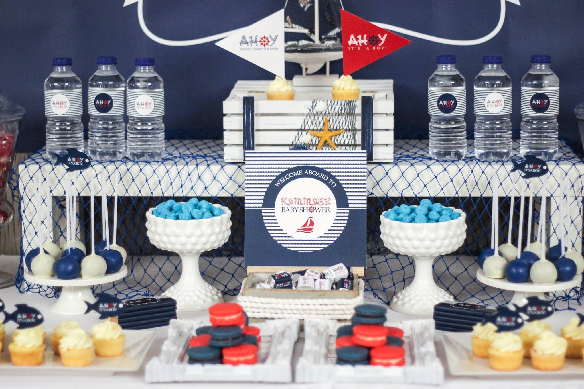 ahoy! nautical baby shower - baby shower ideas - themes - games