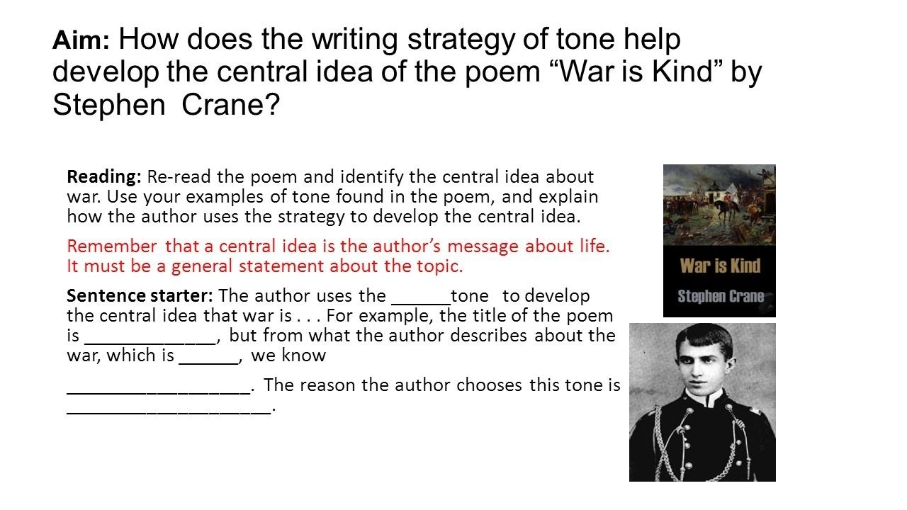 10 Cute The Central Idea Of A Writing aim how does the writing strategy of tone help develop the central 6 2021