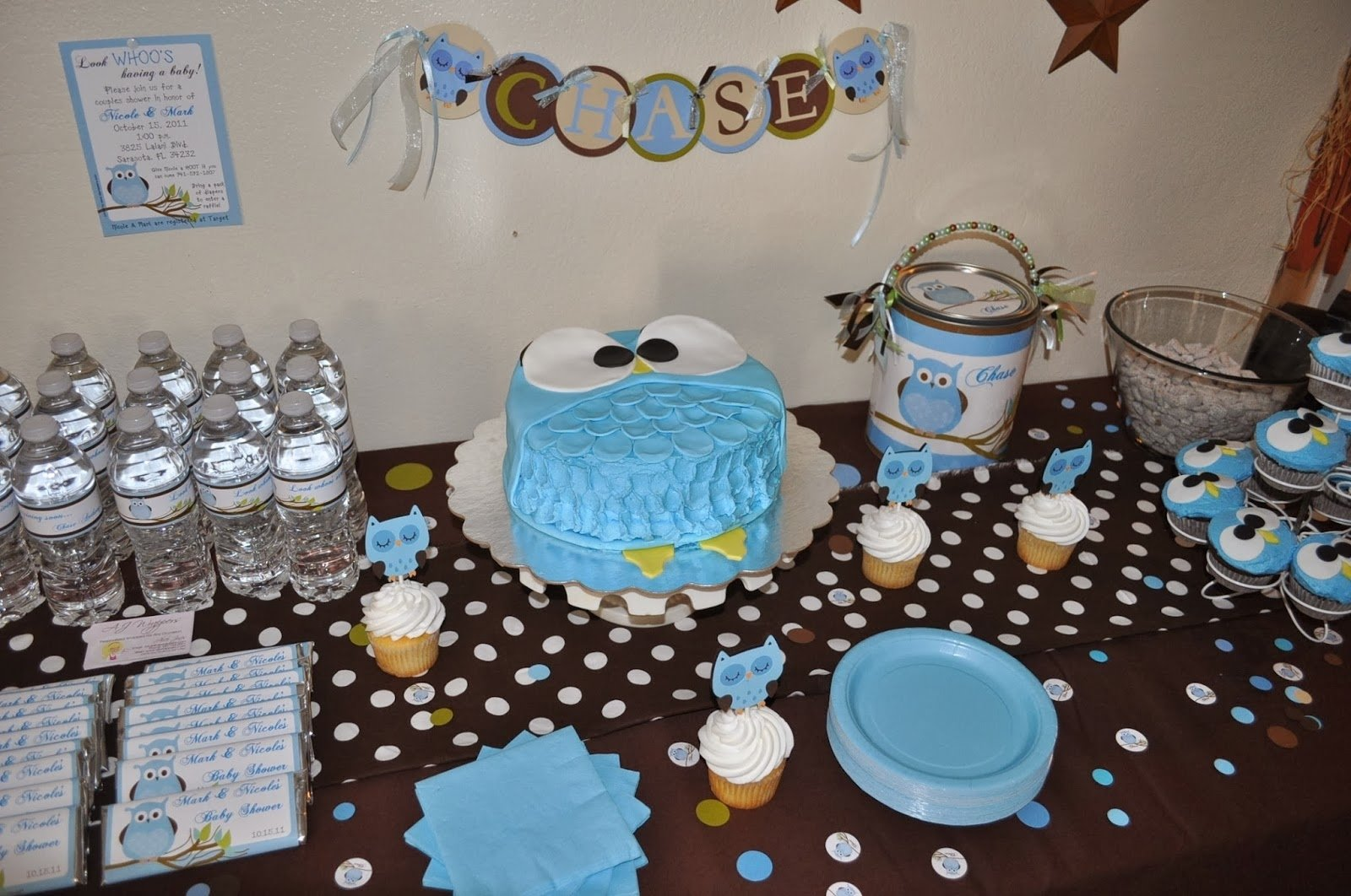 10 Perfect Brown And Blue Baby Shower Decorating Ideas aj wrappers personalized candy wrappers party decor and more