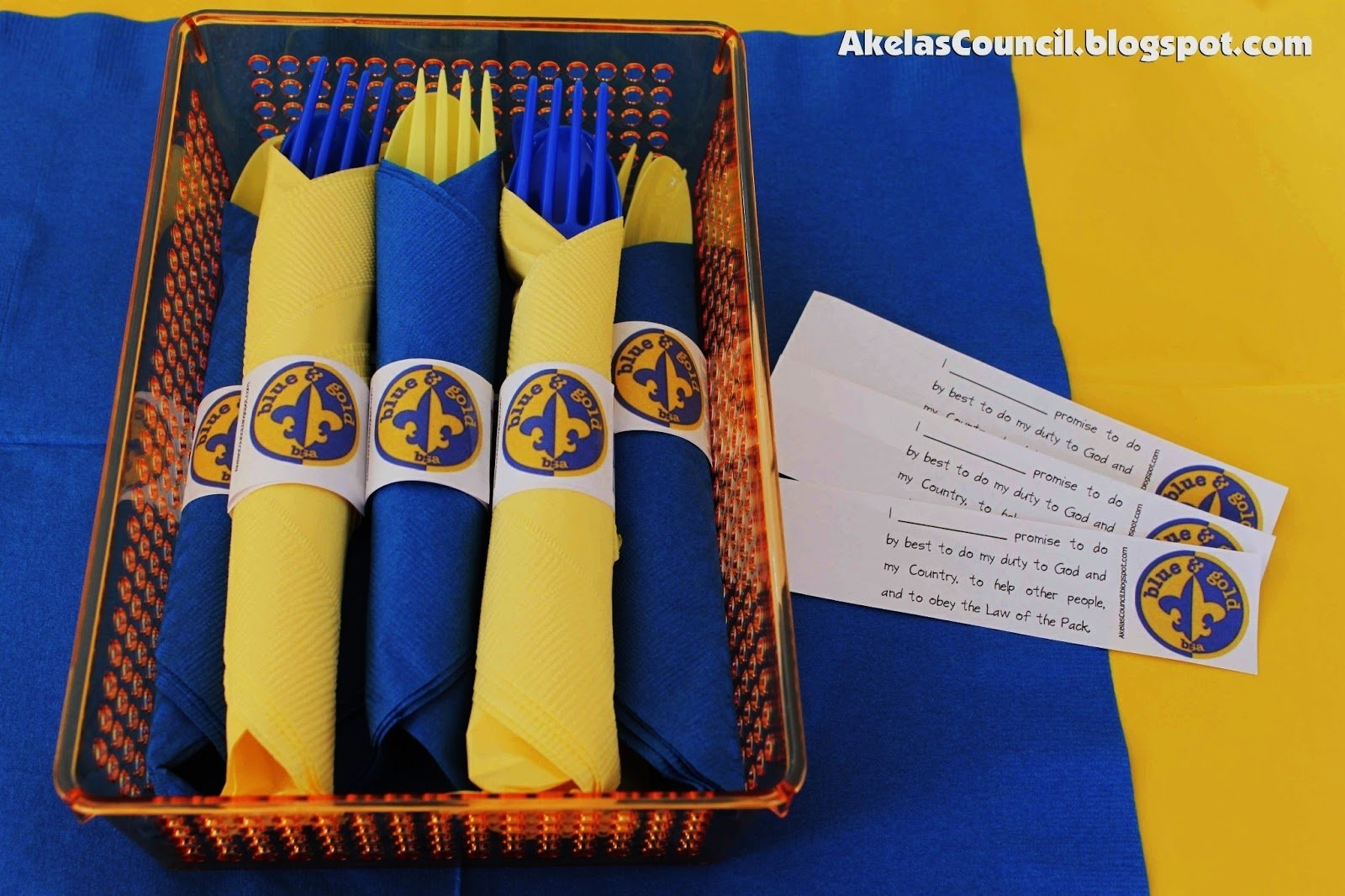 10 Stylish Cub Scout Blue And Gold Banquet Ideas akelas council cub scout leader training paper napkin ring 2020