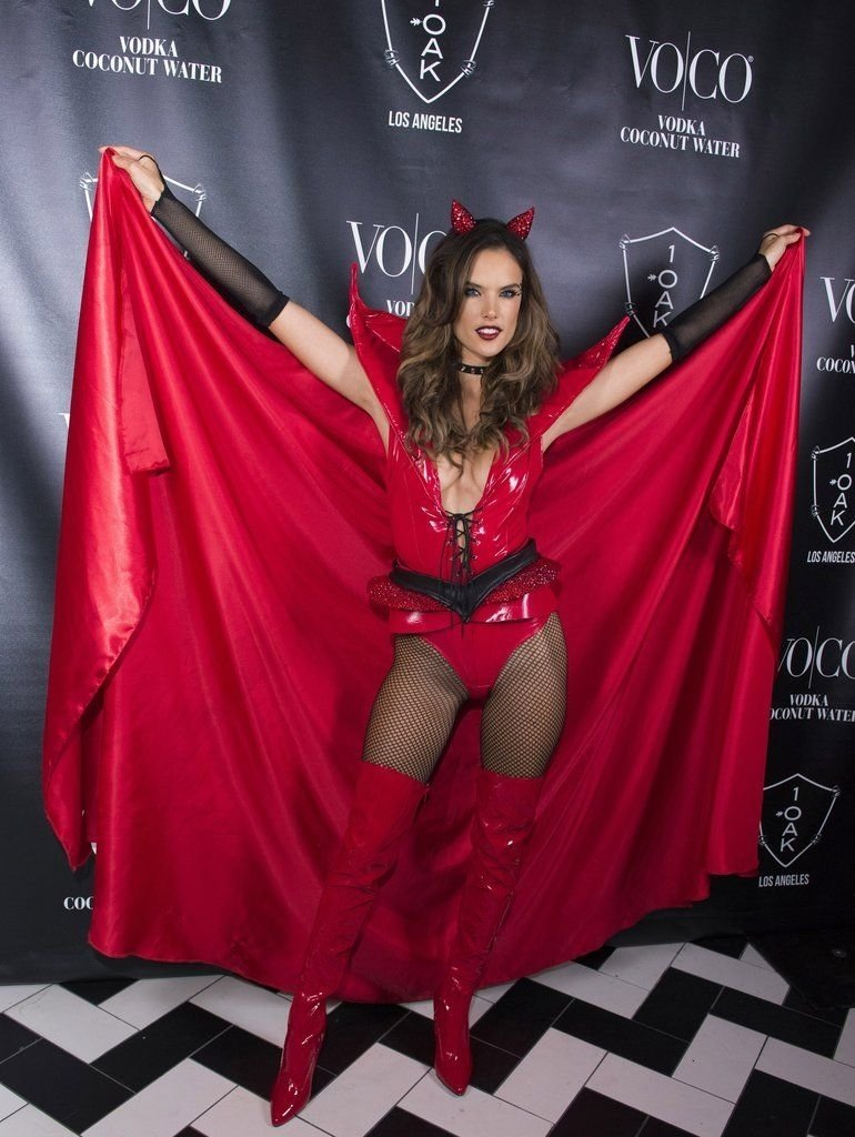 10 Awesome Heaven And Hell Costume Ideas alessandra ambrosio sinned it up at a 2015 1oak party as a red devil 2020