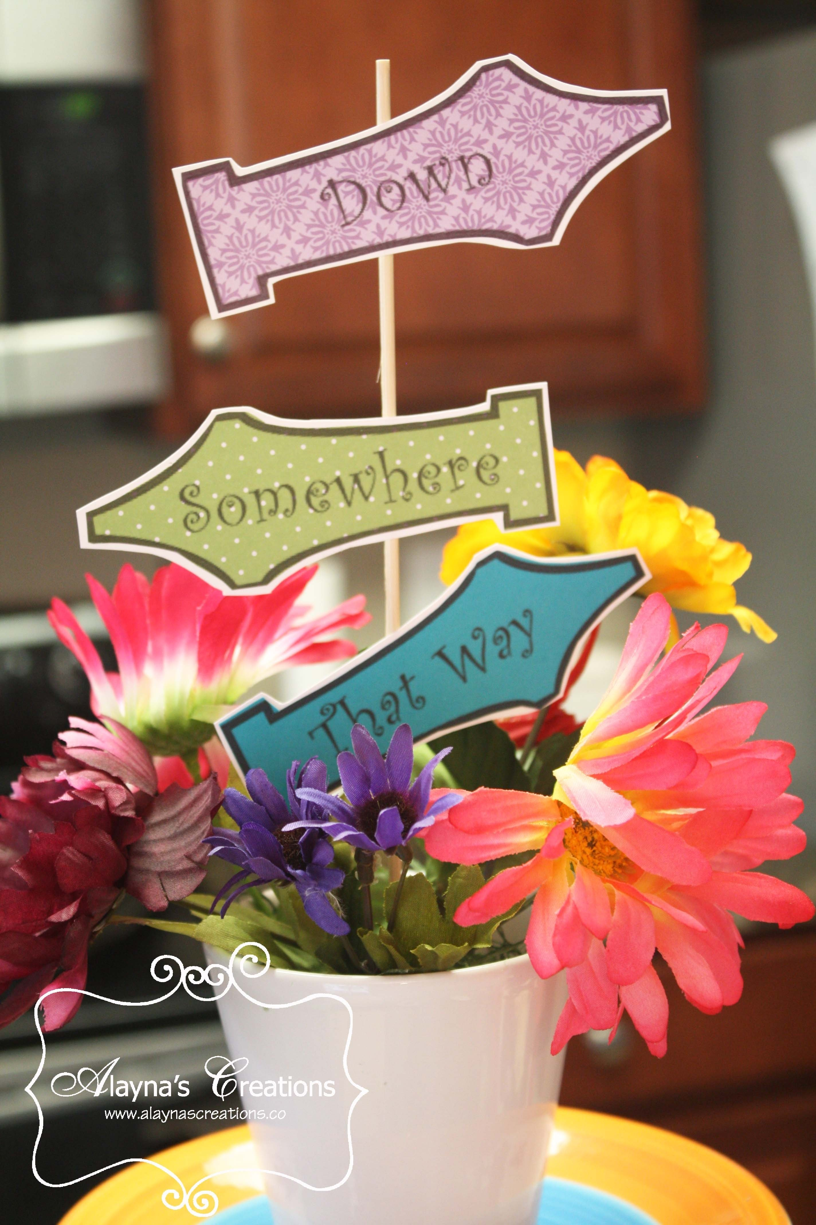 10 Lovable Alice In Wonderland Centerpiece Ideas alice in wonderland archives diy home decor and crafts