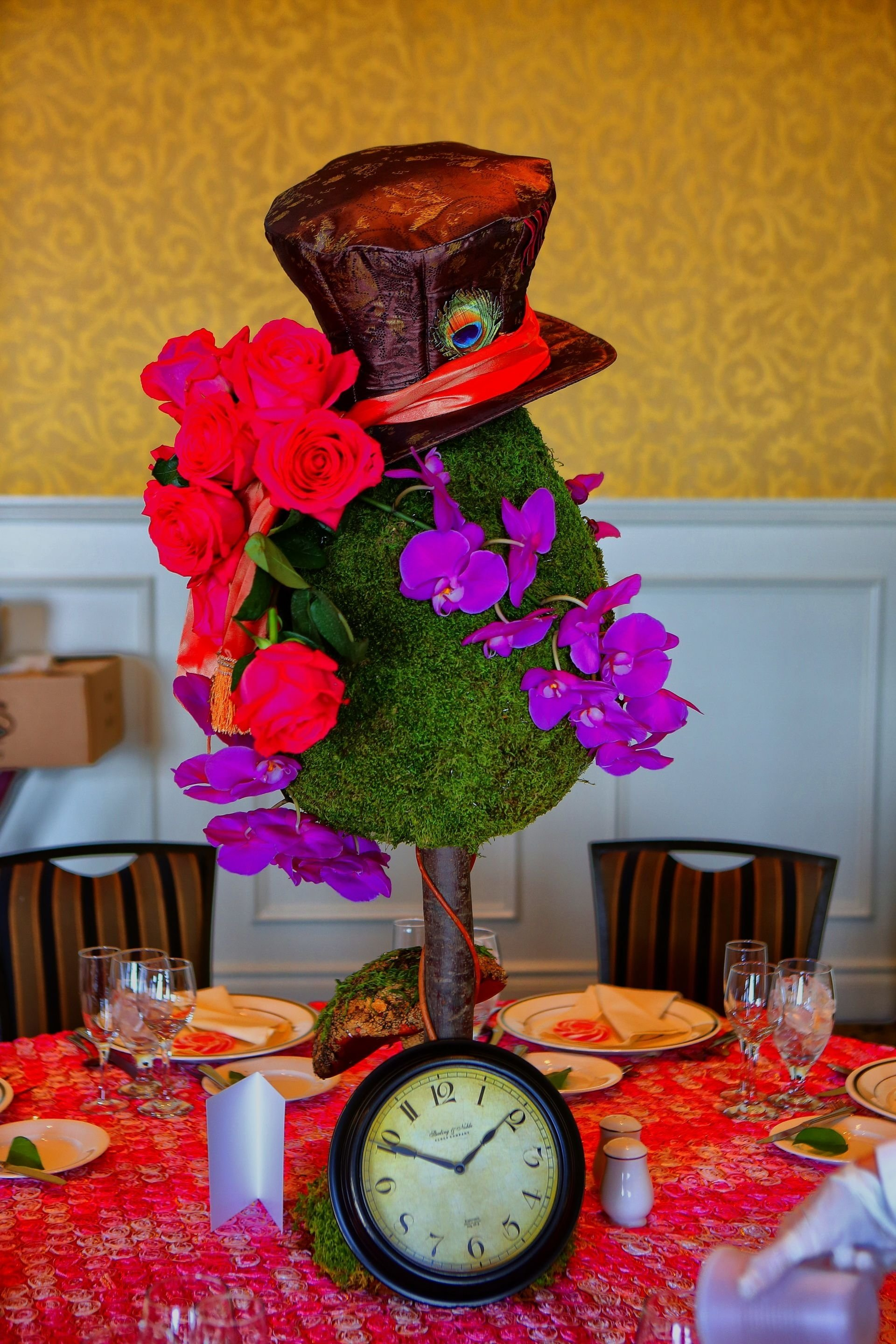 10 Lovable Alice In Wonderland Centerpiece Ideas alice in wonderland birthday party for a child whimsical pink