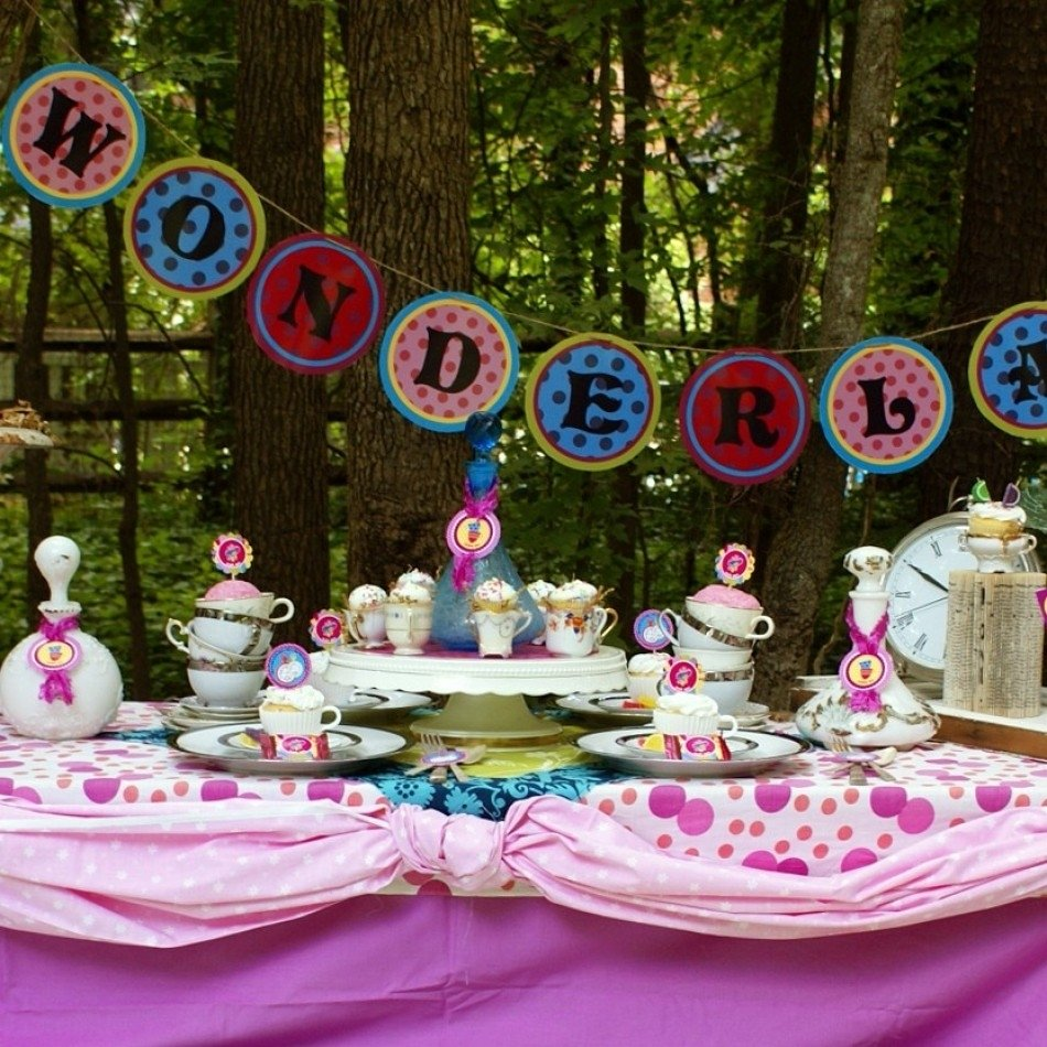 alice in wonderland birthday tea party diy printable package