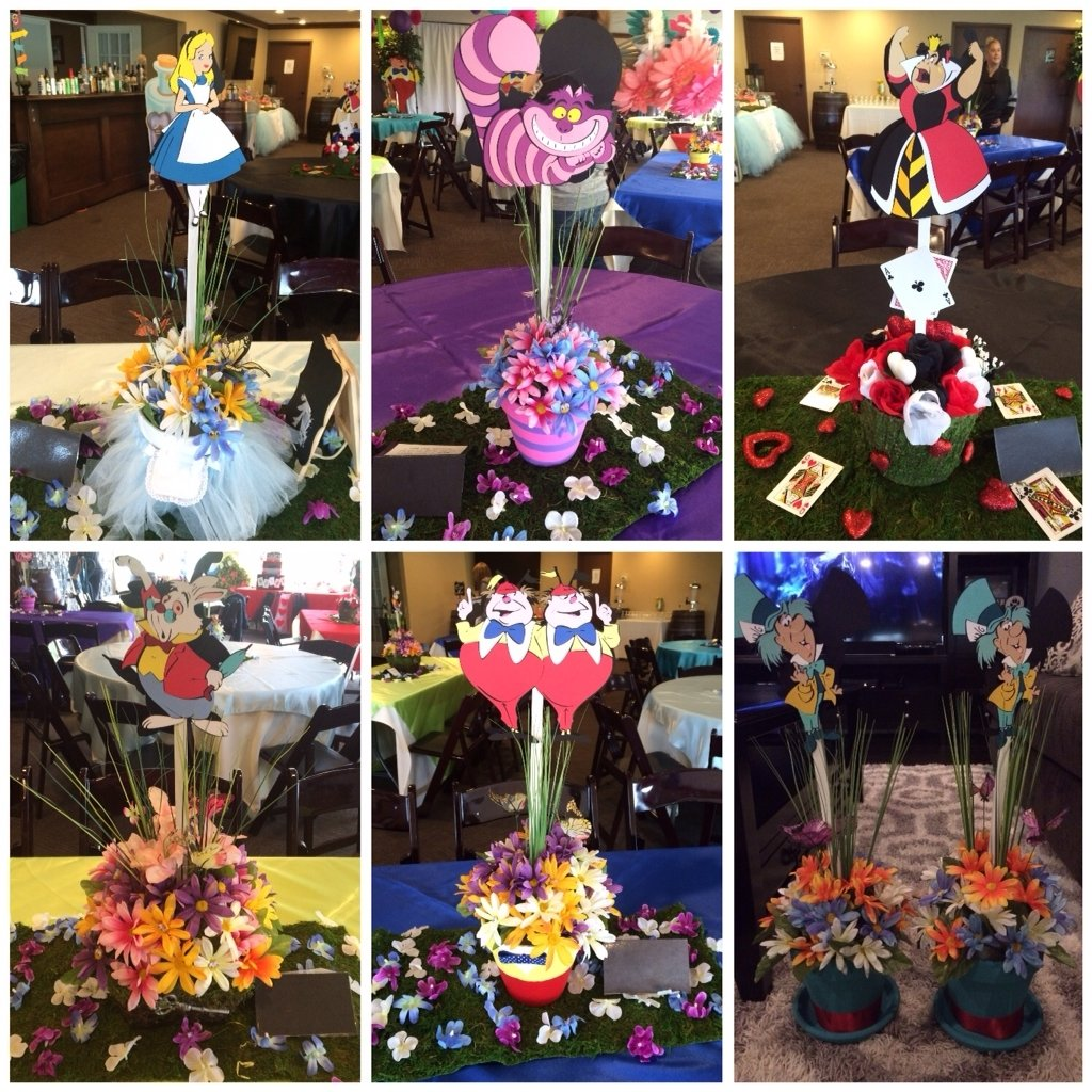 10 Lovable Alice In Wonderland Centerpiece Ideas alice in wonderland centerpieces party ideas pinterest pays 2020