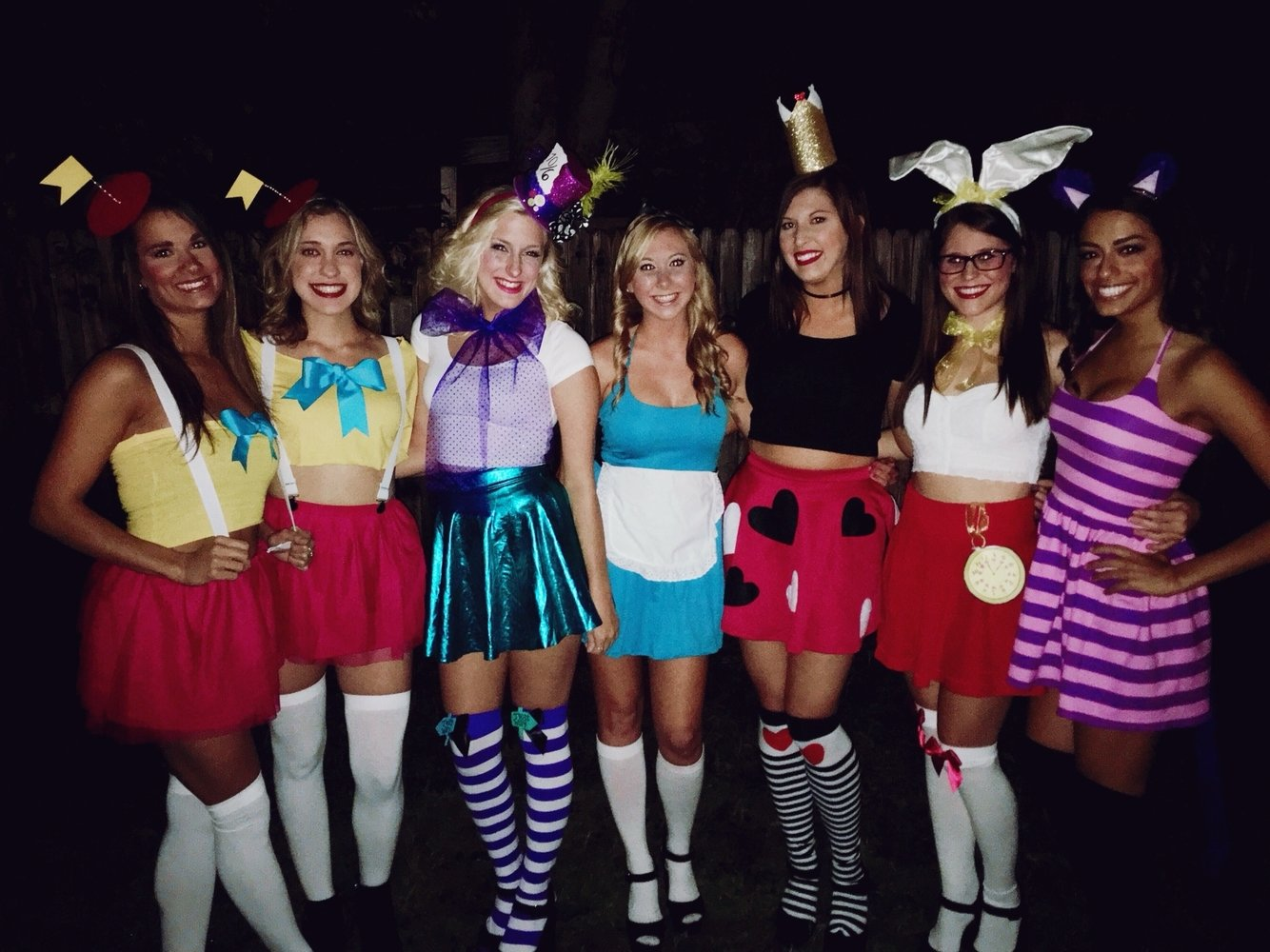 10 Fantastic Halloween Costume Ideas For Three Girls alice in wonderland group costume holiday delights pinterest