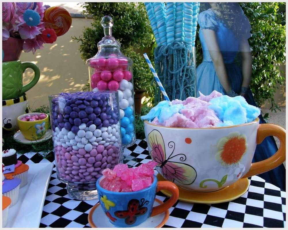 10 Ideal Alice In Wonderland Birthday Ideas alice in wonderland mad tea party candy buffet birthday party 2 2021