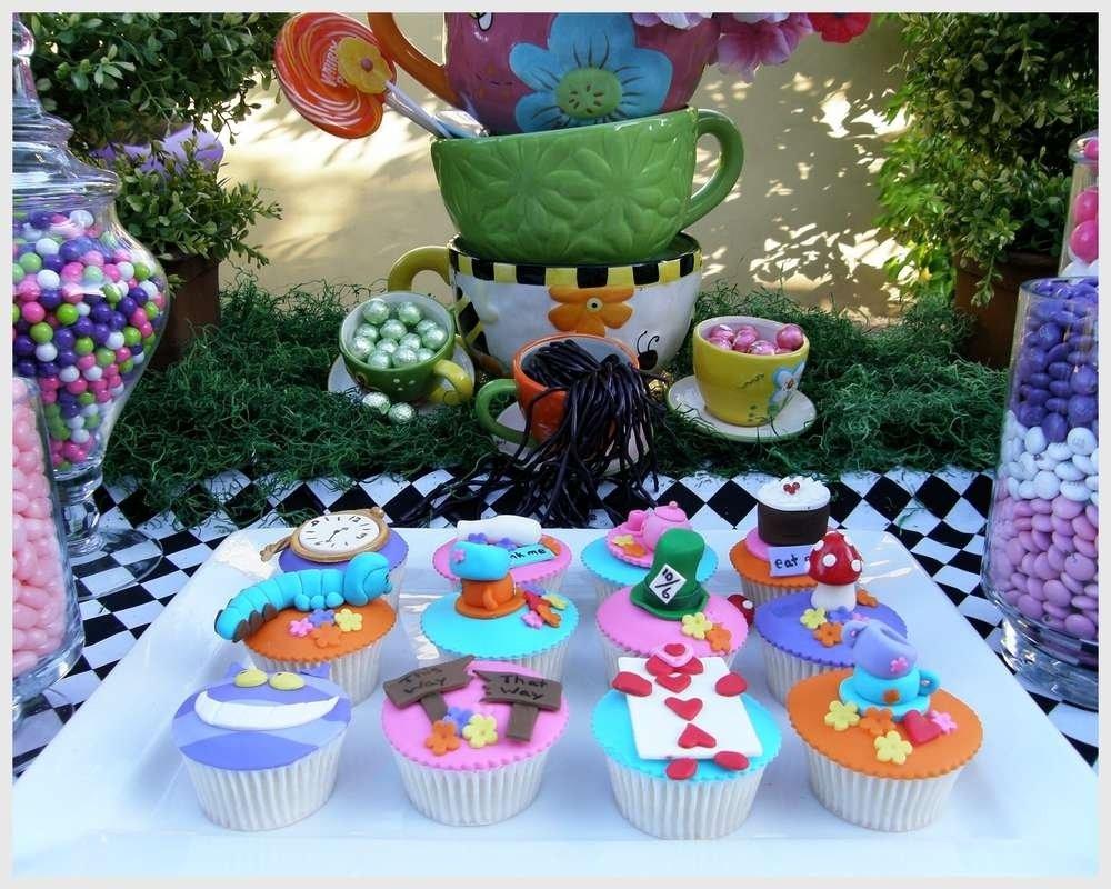 10 Ideal Alice In Wonderland Birthday Ideas alice in wonderland mad tea party candy buffet birthday party 3 2021
