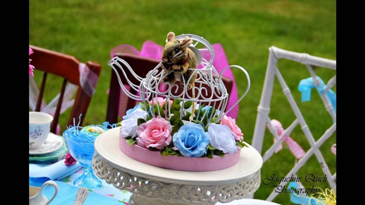 10 Lovable Alice In Wonderland Centerpiece Ideas alice in wonderland party decoration ideas youtube 3