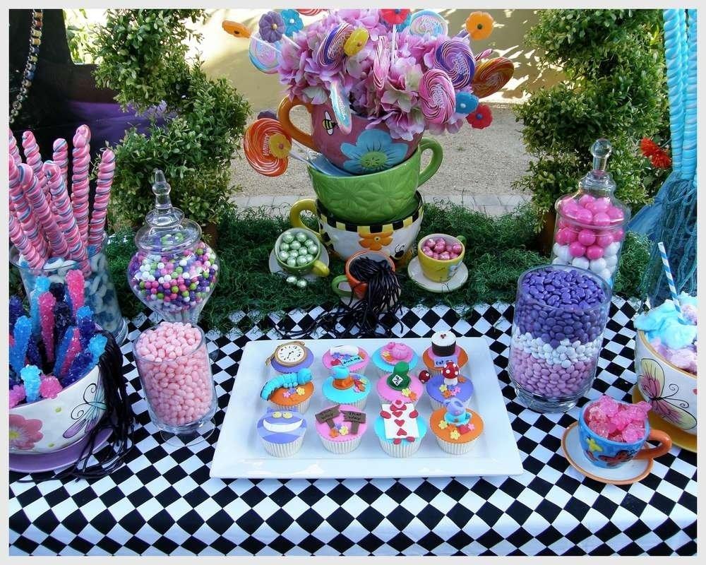 10 Ideal Alice In Wonderland Birthday Ideas alice wonderland mad tea party candy buffet birthday ideas tierra 5 2021