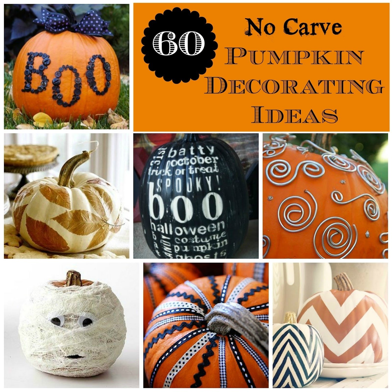 10 Famous No Carve Pumpkin Decorating Ideas all things katie marie 60 no carve pumpkin decorating ideas 2