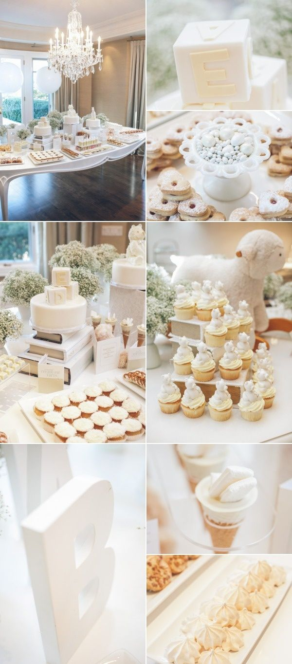 10 Beautiful Blue And White Baby Shower Ideas all white baby shower so chic little white book party ideas 1 2020
