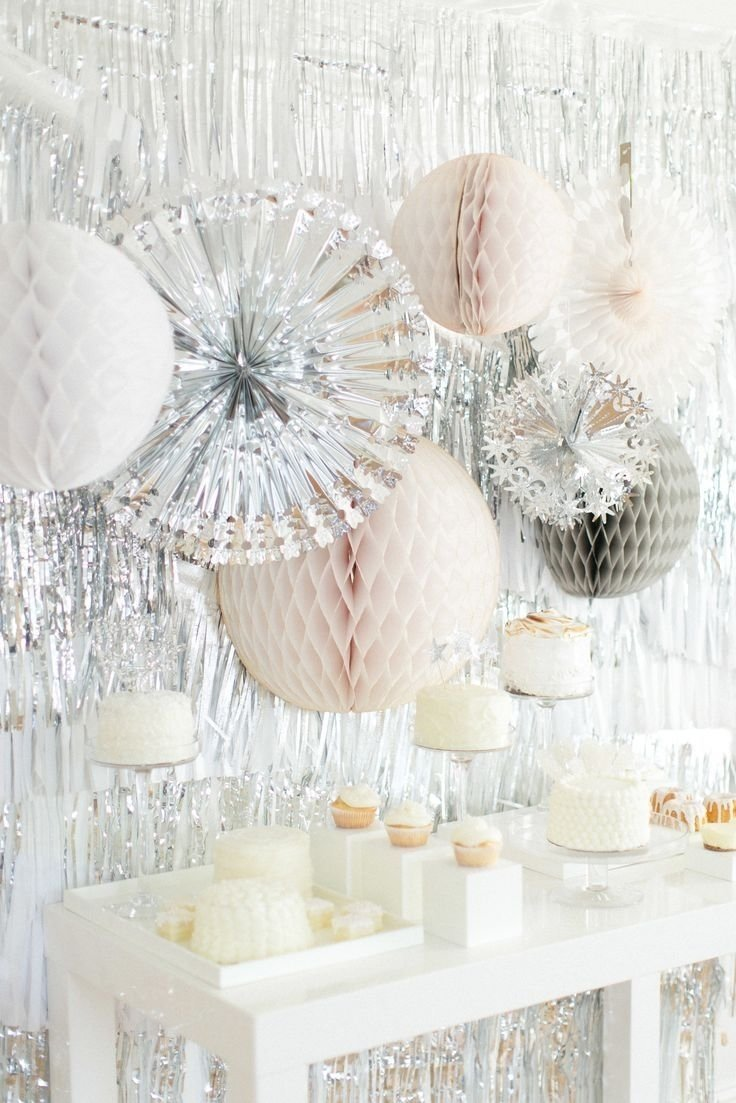 10 Wonderful All White Birthday Party Ideas all white winter wonderland party silver and white party party 2020