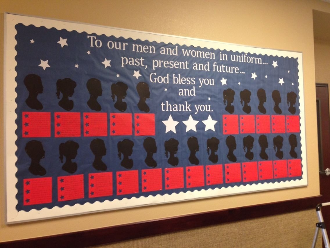 10 Trendy Memorial Day Bulletin Board Ideas all you need is red white and blue construction paper to make the 2020