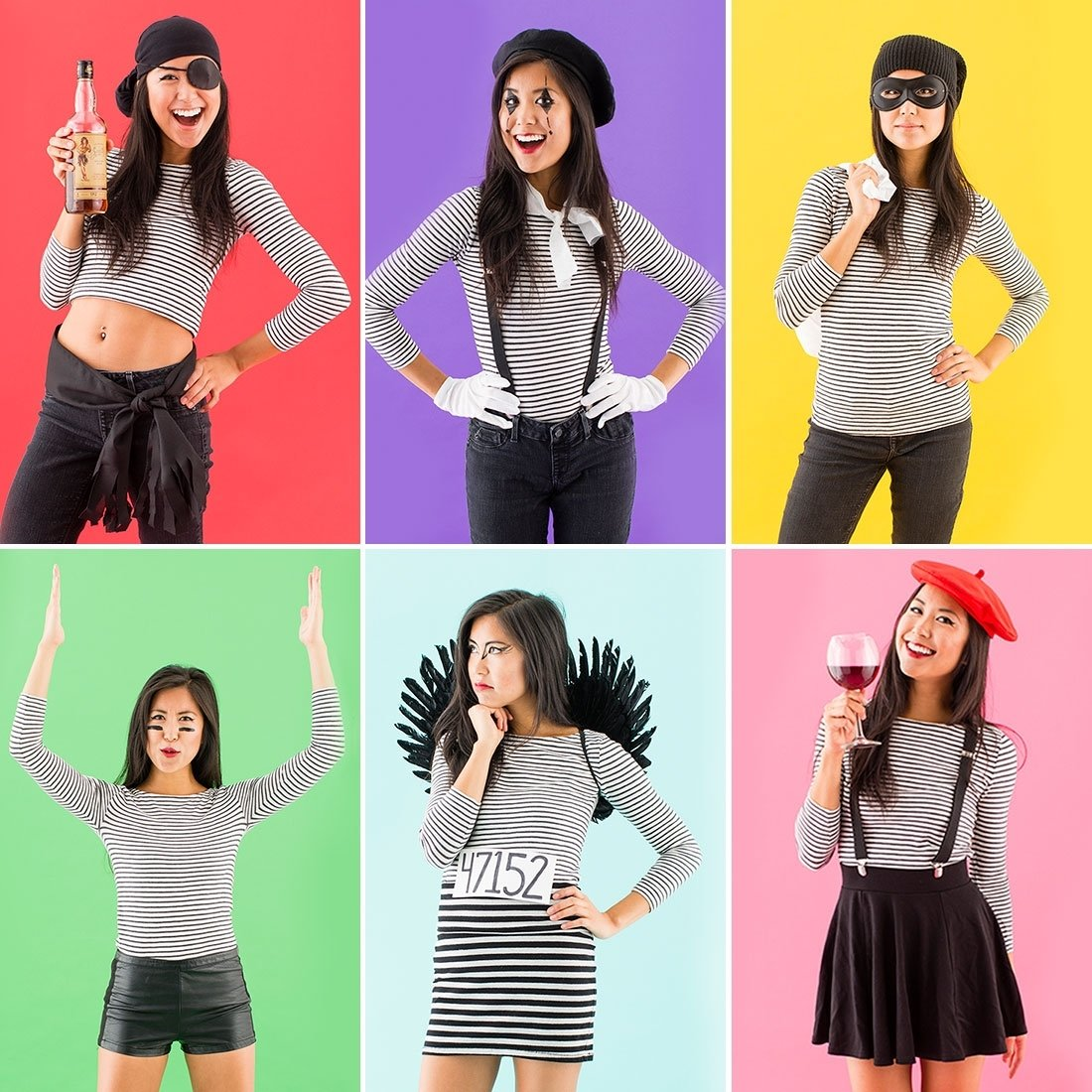 10 Cute Easy Ideas For Halloween Costumes all you need is this 1 wardrobe staple to make 6 easy halloween 6