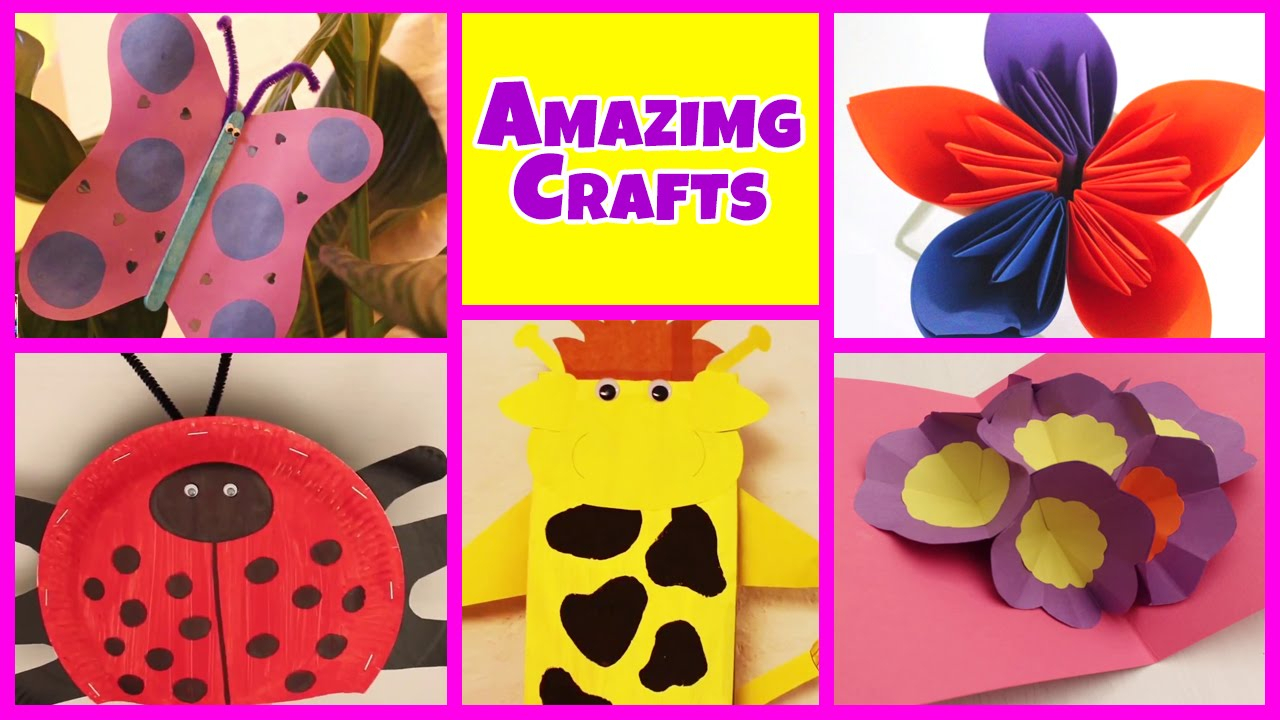 10 Great Easy Arts And Craft Ideas amazing arts and crafts collection easy diy tutorials kids home 3 2021